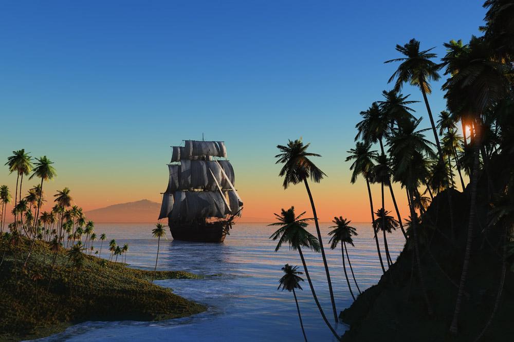 популярность фото парусников в тропиках истории