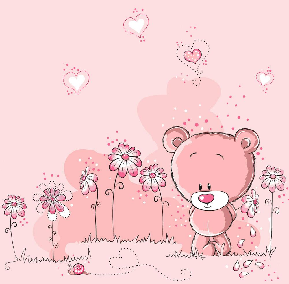 Розовый детский рисунок