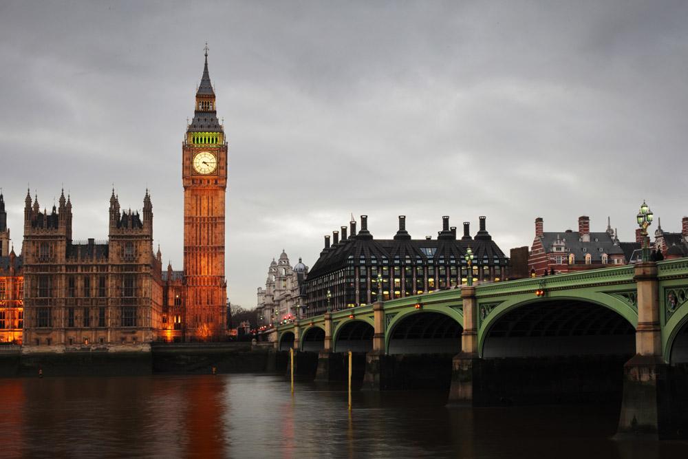 Лондон фотообои вечерний лондон
