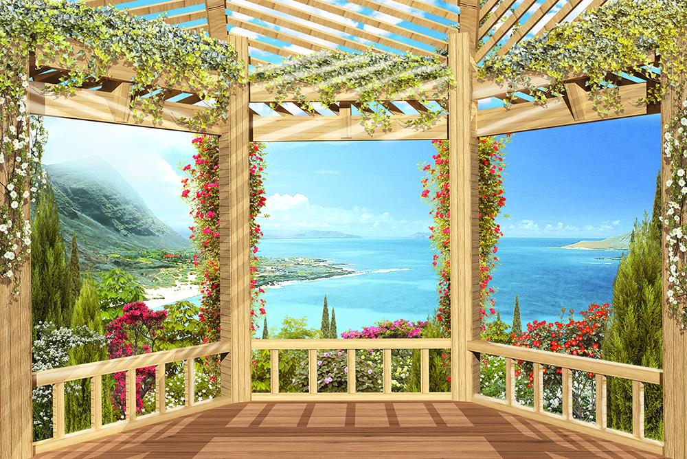 Вид с балкона рисунок.